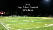 high school football schedule