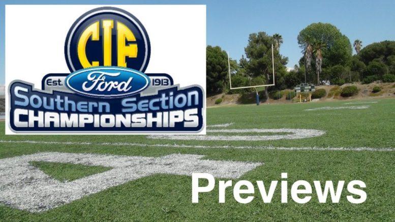 CIF-SS football championship previews