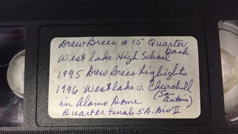 Drew Brees VHS tape