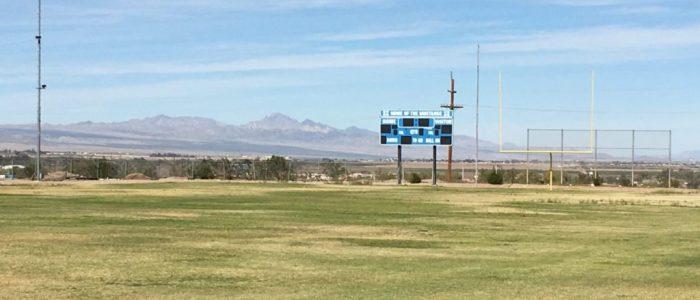 Needles high school football scoreboard