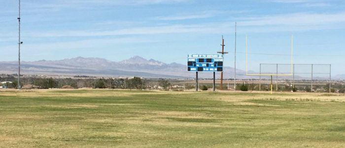 Needles high school football scoreboard