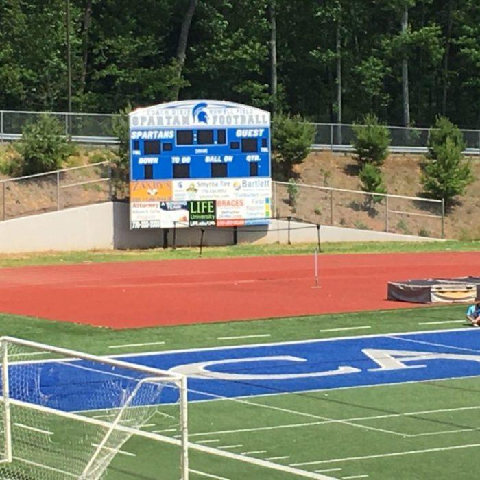 Campbell high school football scoreboard