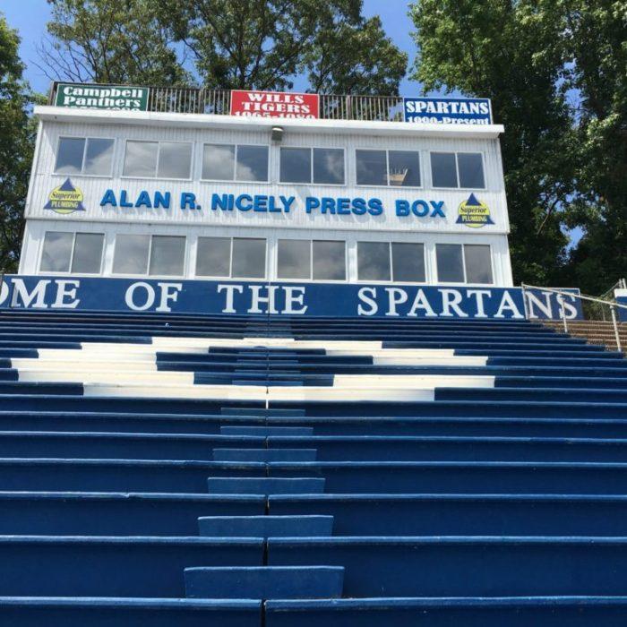 Campbell high school football press box