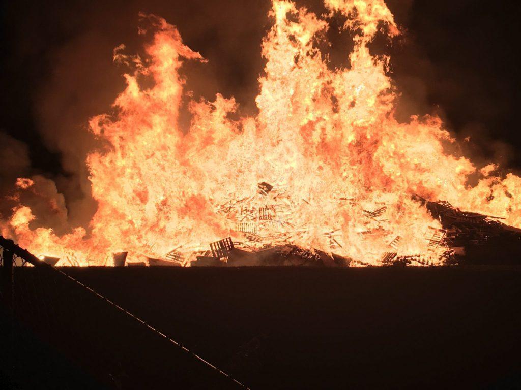 Easton bonfire