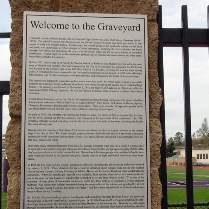 Cathedral High School The Graveyard