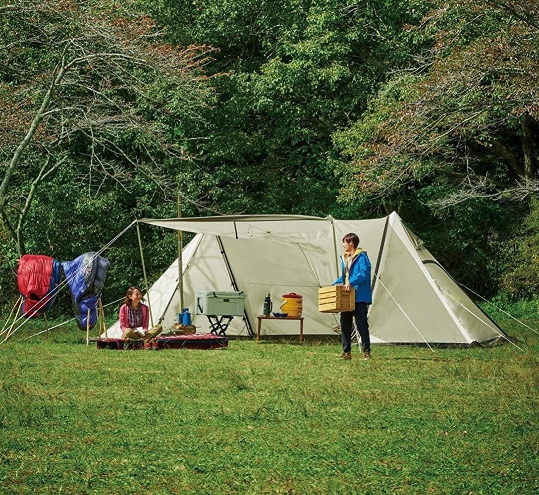 キャンプ場で気になるワイルドルックなツインポールシェルター(テント)!!おすすめはツインピルツ?それとも・・・