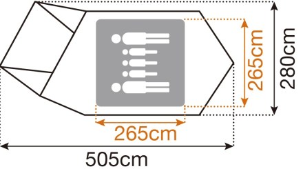 スノーピーク アメニティドームM サイズ