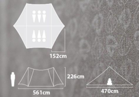 ニーモ ヘキサライト6P size