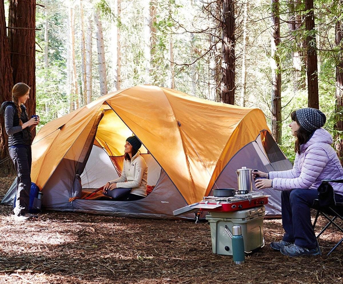 【コスパ抜群】Amazon(アマゾン)ベーシックのテントは晴れの日限定?!8人収容の大型幕がこの値段?!
