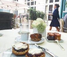 English style a la carte menu served on the terrace
