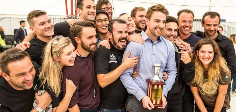 Hugh Kelly of Ona Coffee won the 2017 Australian Barista Championship