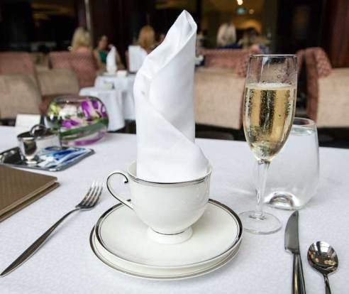 Tea cup and napkin