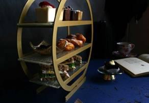 Nata High Tea stand at the Ritz Carlton Charlotte
