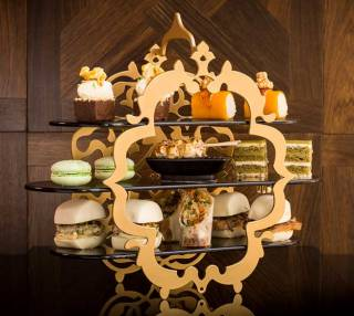 Nephri High Tea stand at the W Hotel London Leicester