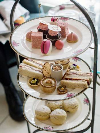 Cake stand from the Langham Sydney Afternoon Tea