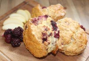 Blackberry and Apple Scones