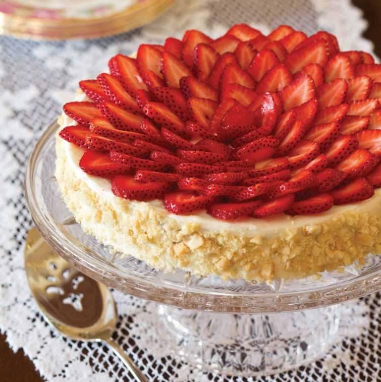 Strawberry-Macadamia Flourless Torte