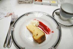 White chocolate cheesecake by Merchant Osteria Venice