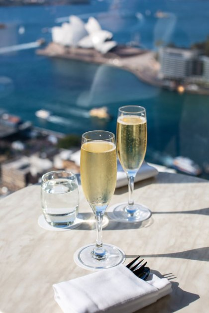 Champagne with a view of Sydney Harbour