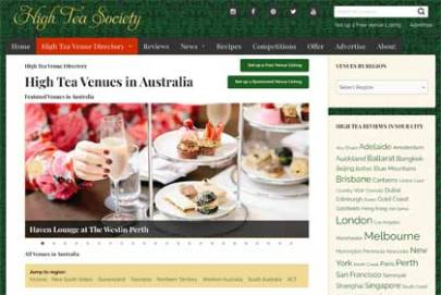 High Tea Venue Directory Search Results