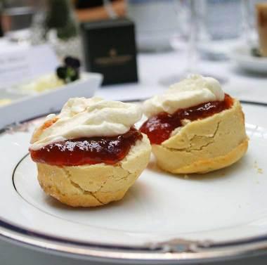 Buttermilk & fruit scones with jam & cream