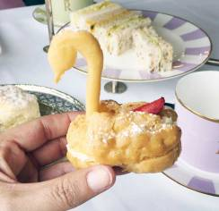 Choux Pastry Swan