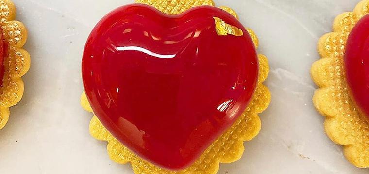 Raspberry Lychee Rose Love Heart