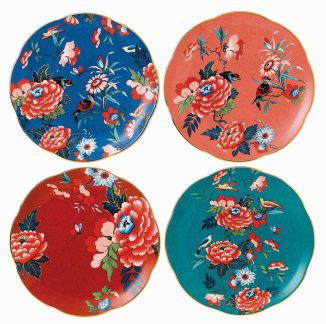 Paeonia Blush 21cm plates, set of 4