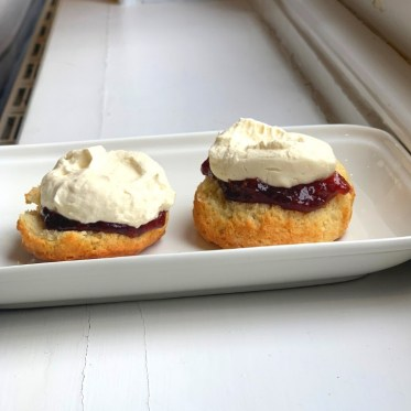 Traditional Buttermilk Scones with Raspberry Jam & Chantilly Cream
