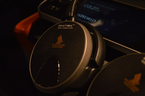 Premium economy passengers receive noise-cancelling headsets similar to those in Business Class.