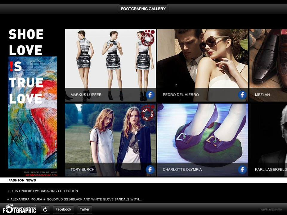 FootGraphic ShoeGallery, uma aplicação para quem adora sapatos