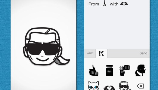 Emoticons ao estilo de Lagerfeld