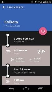 Weather Timeline. Apps para saber o estado do tempo
