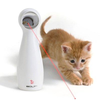 Gatos. Frolicat Bolt, um brinquedo que utiliza o raio laser