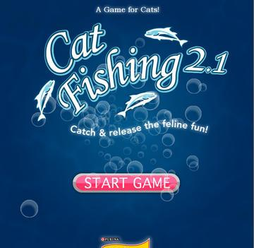 Gatos. Jogo Cat Fishing para iPad, da Friskies