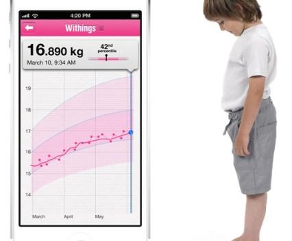 Bebé. Balança Withings para bebés e crianças