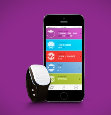 Healbe GoBe, um monitor de atividade que conta calorias automaticamente