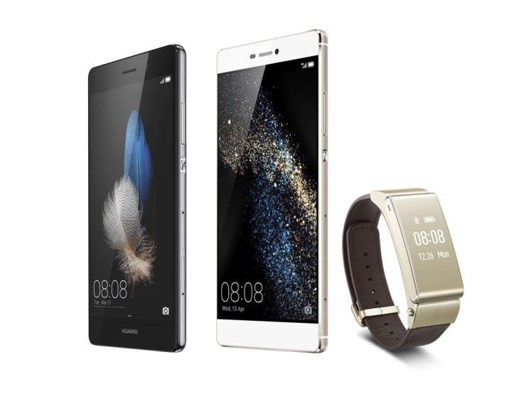 Novidades Huawei já nas lojas. Smartphones P8 e P8 Lite, e pulseira TalkBand B2