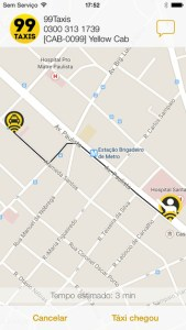 Apps para chamar táxis. 99 Taxis