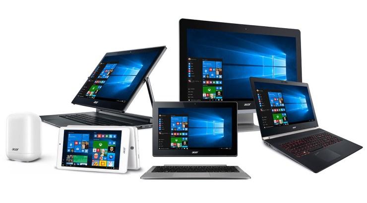 Linha Acer com Windows 10 para o regresso às aulas