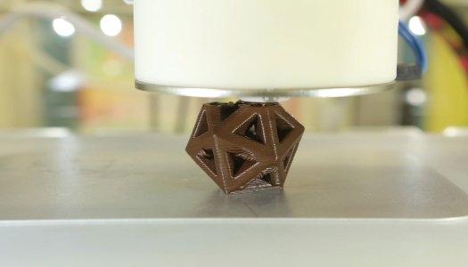 Impressão 3D: Chocolate personalizado