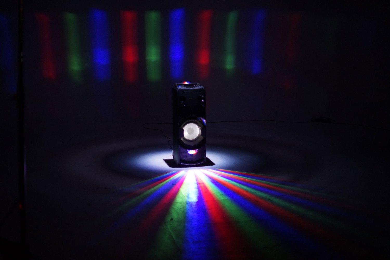 Sony MHC-V7D. Um sistema de áudio que é uma festa