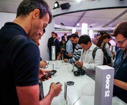 Studio Gear S2, da Samsung, em Lisboa, onde atuarão os The Gift