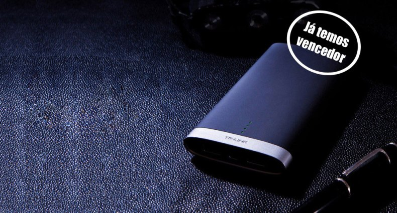 Powerbank PB50 de 10000 mAh, da TP-Link. Passatempo Nunca Mais Fico Sem Bateria!