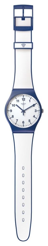 Pagar com o pulso com um Swatch