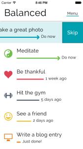 3 apps para ajudar a tornar os em realidade. Balanced app