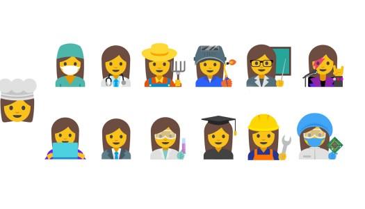Os novos emojis femininos
