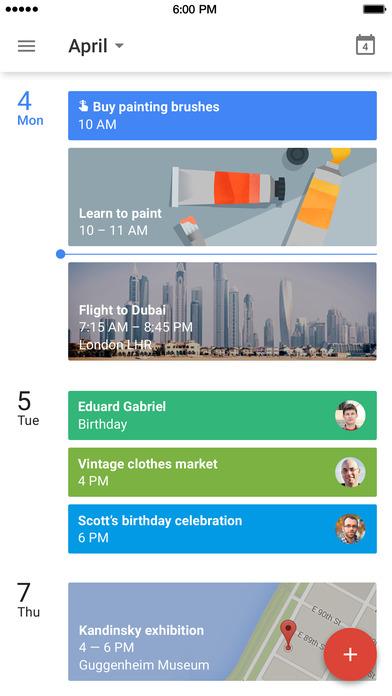 Apps de organização. Google Calendário