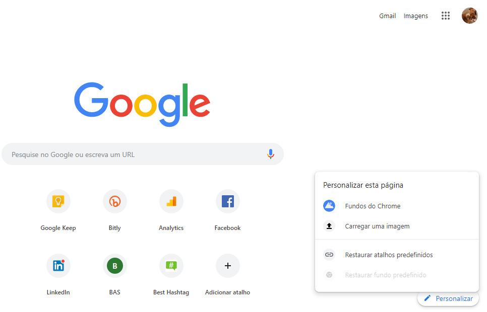 Personalizar o Google Chrome