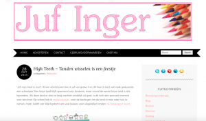 screendump website juf inger